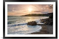 Rotherslade Bay, Gower, Framed Mounted Print
