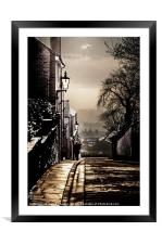 Walking home, Framed Mounted Print