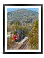 Train Station, Framed Mounted Print
