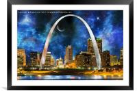 Spacey St. Louis Skyline, Framed Mounted Print