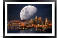 Spacey Pittsburgh, Framed Mounted Print
