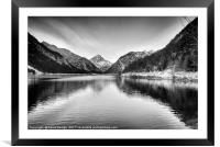 Icy Cold Lake Plan, Framed Mounted Print