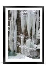 Partnach Gorge: Icicles     , Framed Mounted Print