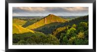 Thorpe Cloud from Air Cottage Farm , Framed Mounted Print