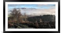 A snow capped Skiddaw from Grisedale Pike, Framed Mounted Print