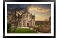 Kutna Hora with Saint Barbara's Church that is a U, Framed Mounted Print