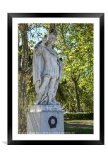 Statue of king Vvamba, Spain, Framed Mounted Print
