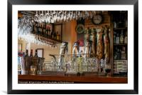 bar in Segovia, Framed Mounted Print