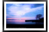 Sunset over the Purbecks, Framed Mounted Print