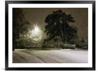 A Cheshire snow scene., Framed Mounted Print