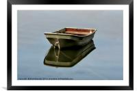 The Boat At Sunny Corner, Framed Mounted Print