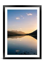 Calm Evening at Loch Etive, Framed Mounted Print