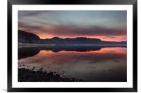 Poolewe Sunset, Framed Mounted Print
