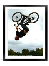 Bicycle flight !, Framed Mounted Print