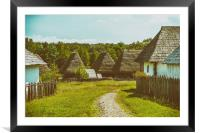 Old Romanian Village View In Romania, Framed Mounted Print