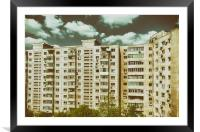Communist Building Apartments, Framed Mounted Print