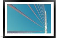 White Abstract Bridge Structure On Sky, Framed Mounted Print