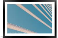 Steel Bridge Cables On Blue Sky, Framed Mounted Print