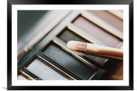 Professional Makeup Brush And Eye Shadow Color Pal, Framed Mounted Print