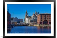 The Albert dock Liverpool, Framed Mounted Print