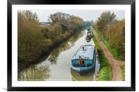 Kennet and Avon Canal at Hilperton, Framed Mounted Print