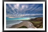 Rhossili Beach Gower South Wales , Framed Mounted Print