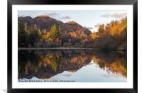 Evening Reflections at Yew Tree Tarn Lake District, Framed Mounted Print