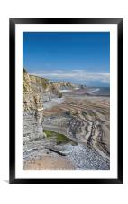 The Glamorgan Heritage Coast South Wales, Framed Mounted Print
