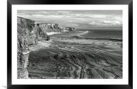 The Glamorgan Heritage Coast Cliffs and Beaches, Framed Mounted Print