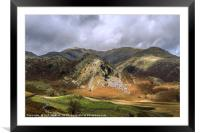 The Bell Coniston Fells Lake District Autumn , Framed Mounted Print