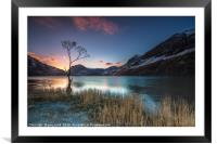 Buttermere Sunrise, lake district., Framed Mounted Print