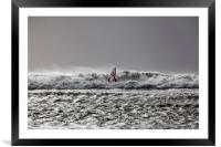 Surfing the Waves, Framed Mounted Print