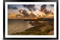 Three Cliffs, Gower, Framed Mounted Print