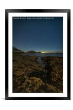 Bracelet Bay with the stars, Framed Mounted Print