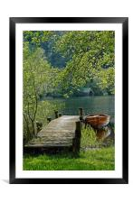 Jetty Loch Ard, Framed Mounted Print