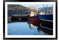 Clyde puffer Vital Spark at Inveraray Pier, Framed Mounted Print