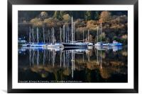 Winter yacht haven on the Crinan Canal, Framed Mounted Print