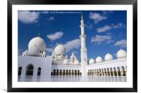 Inner Courtyard of Grand Mosque Abu Dhabi, Framed Mounted Print