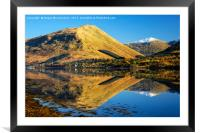 Autumn reflections on Loch Long, Framed Mounted Print