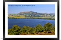 View across Loch Leven to the Lomond Hills, Framed Mounted Print