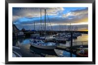 Sunset over Anstruther harbour, Framed Mounted Print