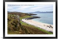 Coral Beach at Claigan on Isle of Skye, Framed Mounted Print