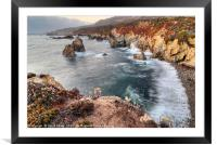 Rocky coast from Soberanes Point Garrapata Park, Framed Mounted Print