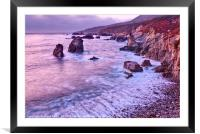 Rocky coast from Soberanes Point Garrapata State P, Framed Mounted Print
