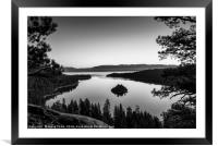 Stunning Emerald Bay sunrise in Lake Tahoe., Framed Mounted Print