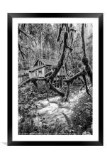 The Cedar Creek Grist Mill in Washington State., Framed Mounted Print