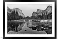 Dramatic view of Yosemite Valley., Framed Mounted Print