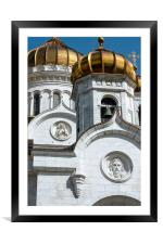 The Cathedral Of Christ The Savior., Framed Mounted Print