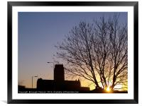 Liverpool Anglican Cathedral at sunrise, Framed Mounted Print