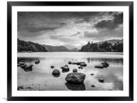 Derwent Water in the Lake District, Framed Mounted Print
